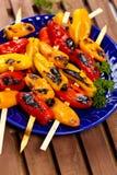 Mini Sweet Peppers asado a la parrilla Imagen de archivo