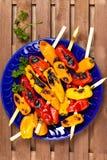 Mini Sweet Peppers grelhado fotografia de stock