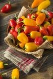 Mini Sweet Peppers orgánico crudo Foto de archivo libre de regalías
