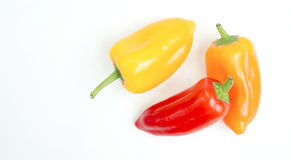 Mini Sweet Red Yellow Orange Sweet Peppers Hot Raw Food Stock Image