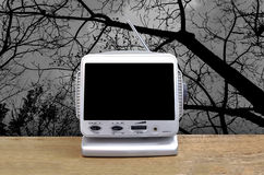 Mini télévision analogue Images stock