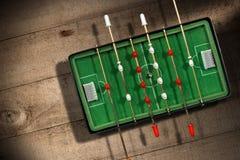 Mini Table Football Game mit Fußball Stockfoto
