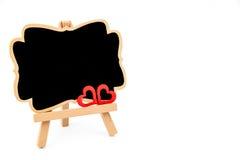 Mini tableau noir de chevalet en bois, l'espace vide pour le texte Photo libre de droits