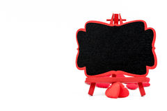 Mini tableau noir de chevalet en bois, l'espace vide pour le texte Image libre de droits