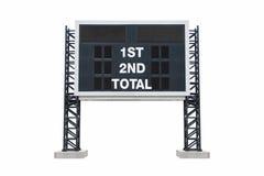 Mini tablicy wyników stadium Z ścinek ścieżką Zdjęcie Royalty Free