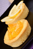 Mini tangerine and lemon fruit tarts Royalty Free Stock Image