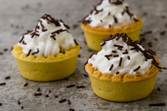 Mini tart with chocolate Royalty Free Stock Photography