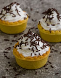 Mini tart with chocolate Royalty Free Stock Image