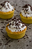 Mini tart with chocolate Royalty Free Stock Photo