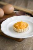 Mini tart on dish Stock Photos
