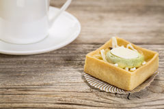 Mini tart with espresso coffee Stock Photography