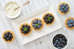 Mini tart with fresh berries Stock Photography