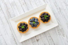 Mini tart with fresh berries Royalty Free Stock Photos