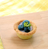 Mini tart with fresh blueberries Royalty Free Stock Image