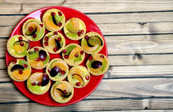 Mini tart with fruit Stock Images