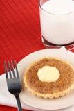 Mini tarta de la nuez con mascarpone Foto de archivo