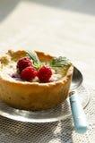 Mini tarte de framboises Image stock