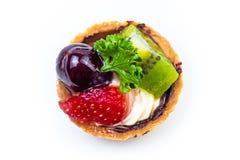 Mini tarte de fruit Photographie stock libre de droits