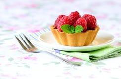Mini tartes avec des fruits de framboises Photo libre de droits