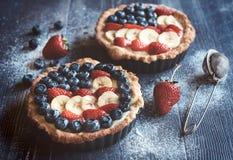 Mini tartes doux Photographie stock libre de droits
