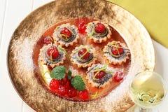 Mini tartlets Stock Photo