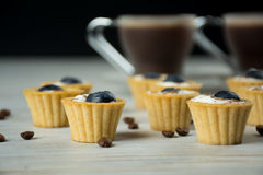 Mini tartlets Imagem de Stock Royalty Free