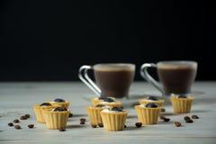 Mini tartlets com mirtilo Foto de Stock