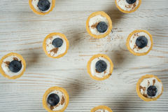 Mini tartlets com mirtilo Imagens de Stock
