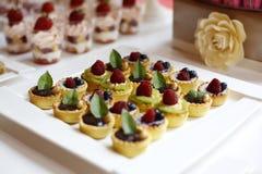 Mini tarts with fruits royalty free stock photo