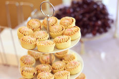 Mini tarts on a plate Stock Images