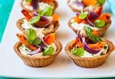 Mini tarts with pumpkin Royalty Free Stock Photography