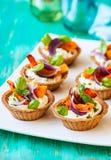 Mini tarts with pumpkin Royalty Free Stock Photos