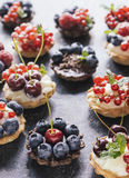 Mini tarts Royalty Free Stock Photography