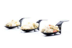 Mini tasting. Ensaladilla, a typical food in spain Royalty Free Stock Image