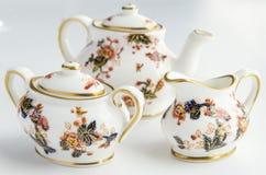 Mini Tea Cup Set Stock Photo