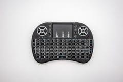 Mini teclado sem fio com a almofada da trilha isolada no backgrou branco foto de stock royalty free