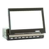 Mini tevê do LCD para o carro isolado no branco Fotografia de Stock