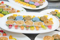 Mini Thai Food And Dessert Photographie stock