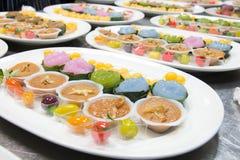 Mini Thai Food And Dessert imagem de stock