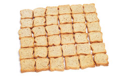 Mini toasts. Some mini toasts aligned in a square on a white background Royalty Free Stock Image