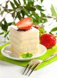 Mini torta con vaniglia Immagine Stock