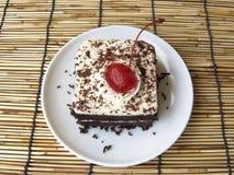 mini torta del bosque negro del café Imagen de archivo