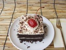 mini torta del bosque negro del café Fotografía de archivo libre de regalías