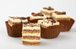 Mini tortas de chocolate Imagen de archivo libre de regalías