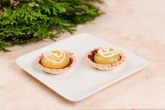 Mini torte del limone Fotografia Stock Libera da Diritti