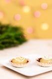 Mini torte del limone Fotografia Stock