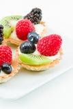 Mini torte di frutta fresche Fotografie Stock
