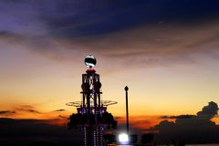 Mini Tower Drop of Mall of Asia. One of the rides of amusement park in the Mall of Asia Philippines Stock Photos