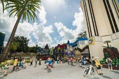 Mini Town Legoland Royalty-vrije Stock Afbeelding