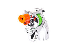 Mini toy gun 3/4 view Royalty Free Stock Photos